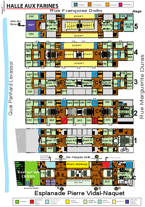 Map of the Halle Farines Building